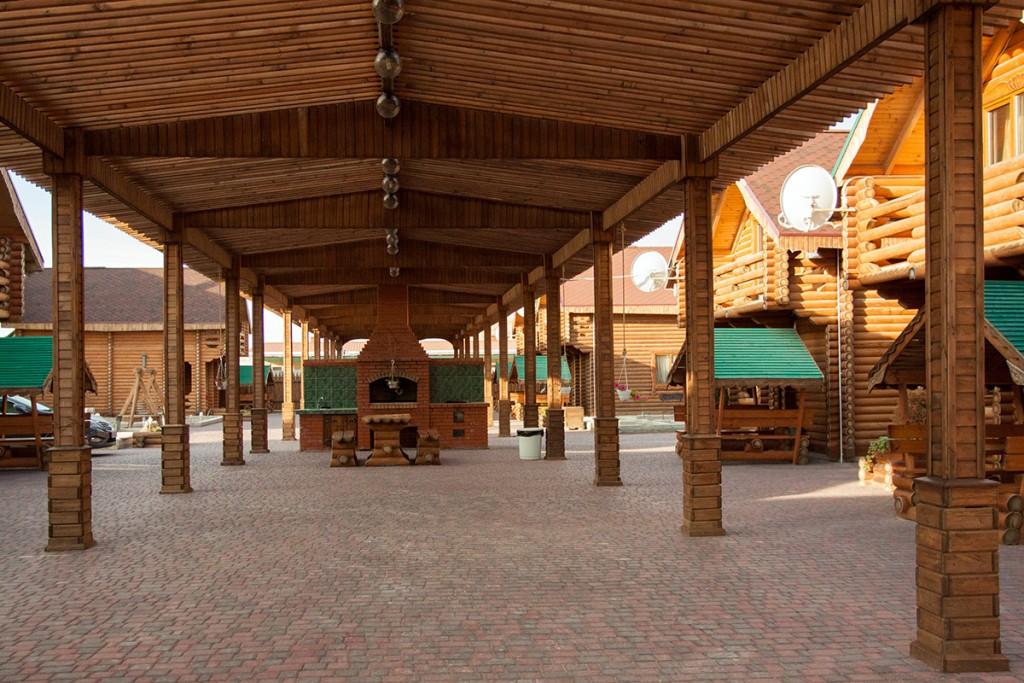 Каламита деревянные коттеджи на берегу моря